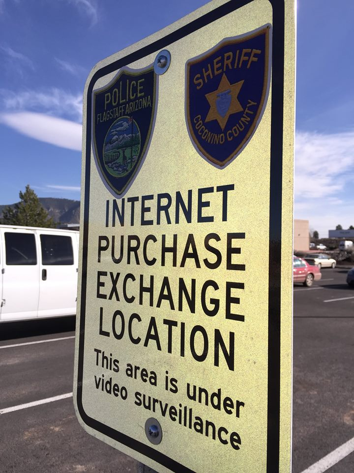 Coconino County Sheriff internet exchange parking sign
