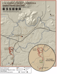 Coconino County - Greater Flagstaff Area Trails Map