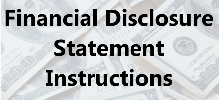 Instructions for completing a Financial Disclosure Statement