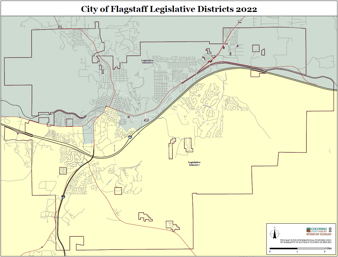 Map of State Legislative Districts - City of Flagstaff
