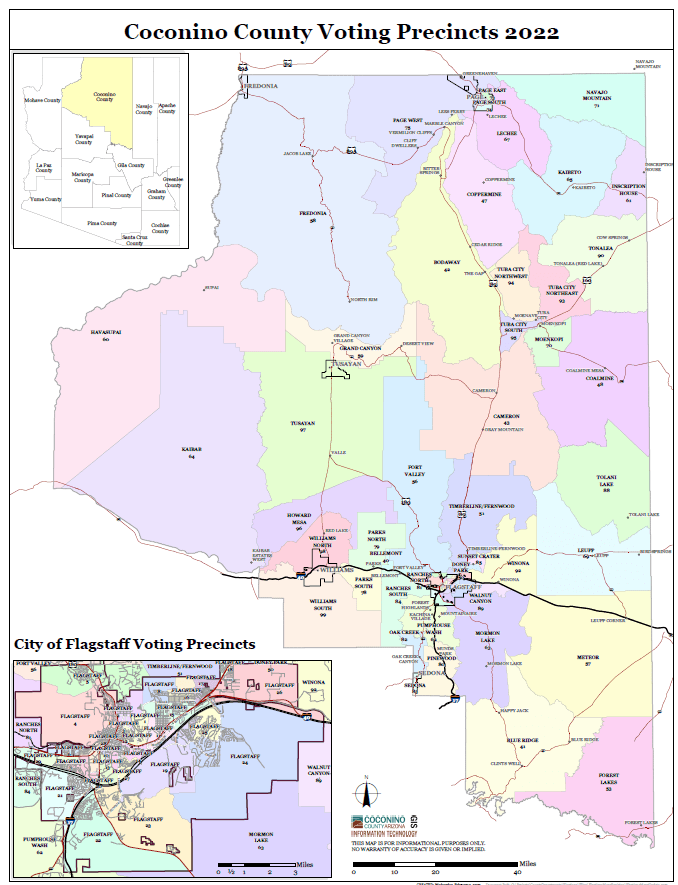 Map of Voting Precincts - Countywide