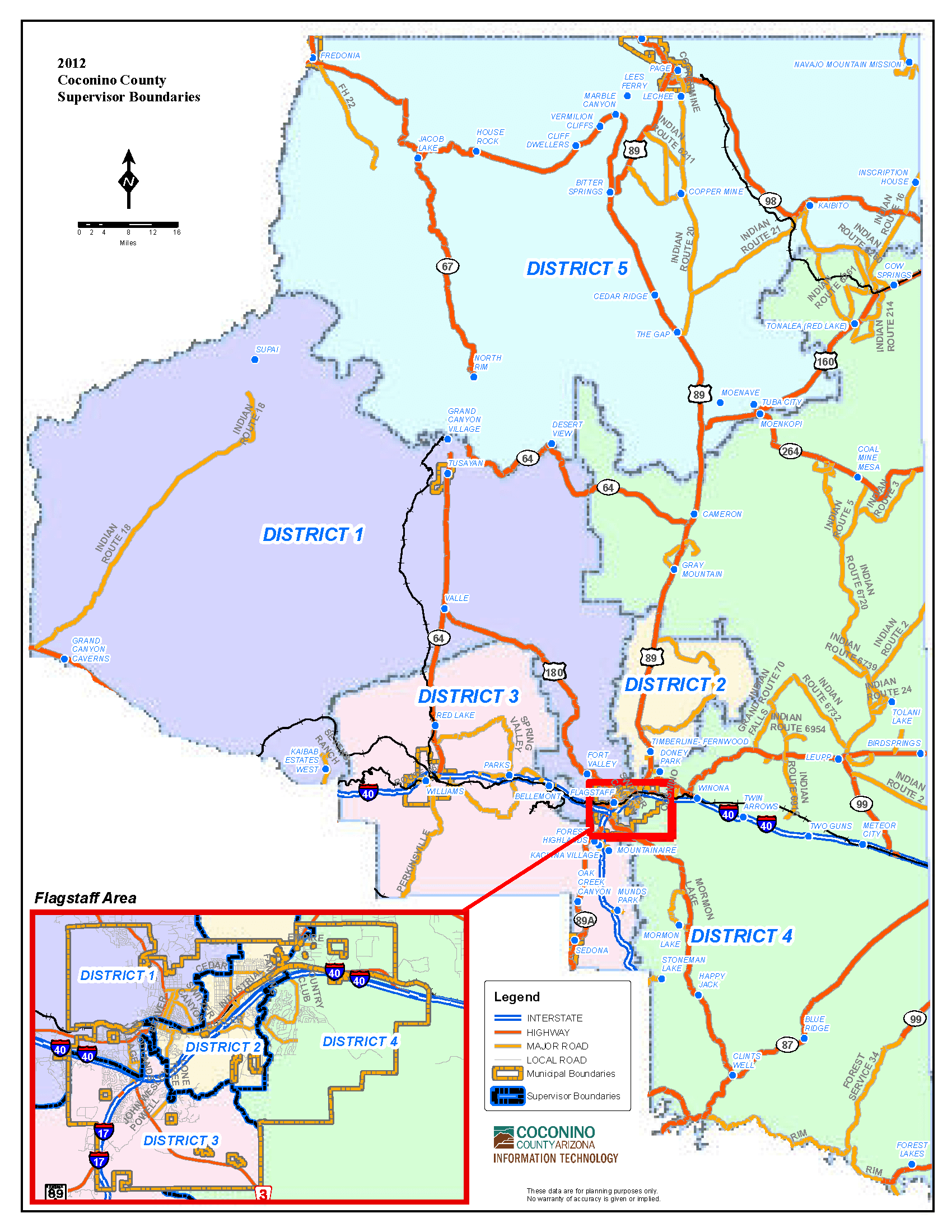Map of Board of Supervisors - Countywide