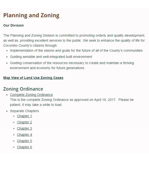 Coconino County Zoning Ordinance