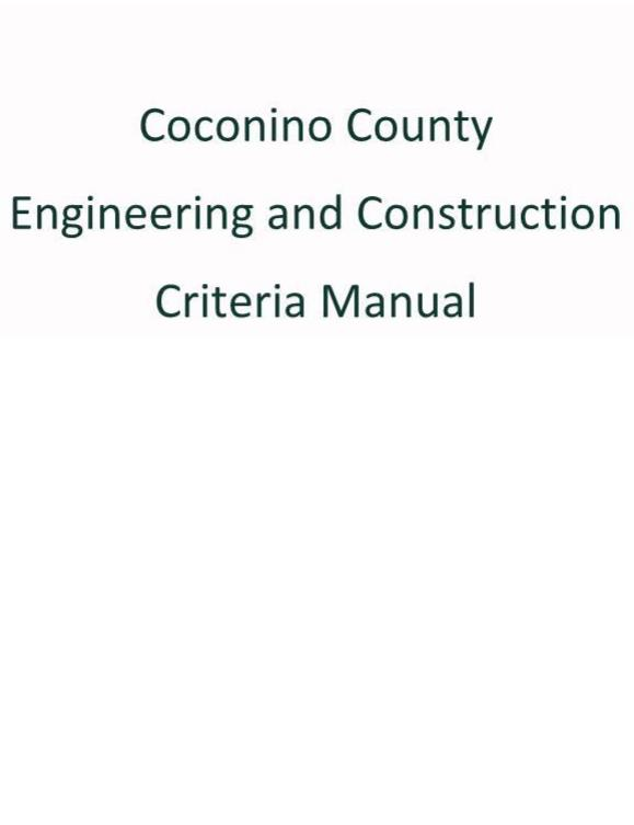 Coconino County Engineering and Construction Criteria Manual