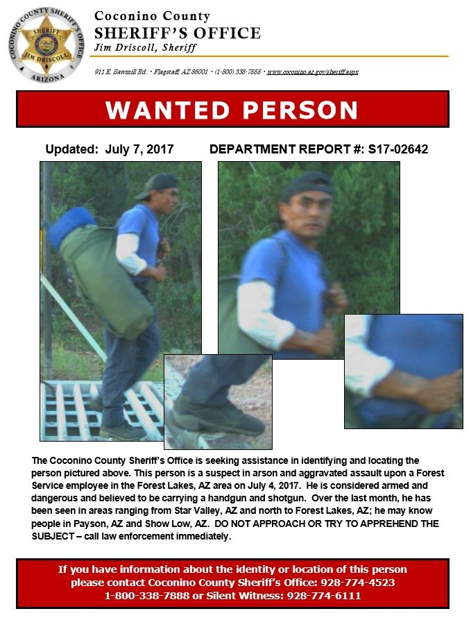 Wanted Person Flier - Suspect Forest Lakes Shooting
