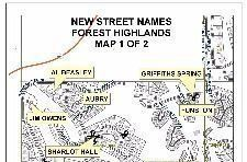 Forest Highlands - Street Renaming Map 1