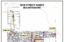 Mountainaire - Street Renaming