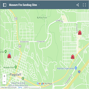 Museum Fire Sandbag Sites