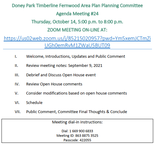Doney Park Timberline Fernwood Area Plan Agenda for 6/11/20 Opens in new window