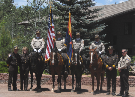 Members of the Mounted Unit